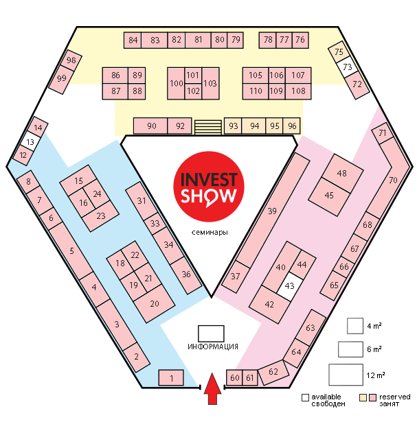 Stand Plan of Moscow Overseas Property and Investment Show